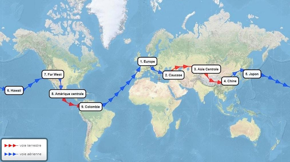 Billet tour du monde route de la soie